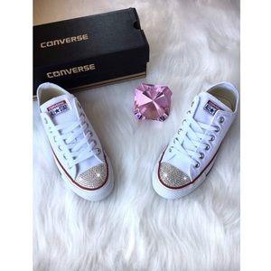 ✨Custom Bling Converse (White)✨